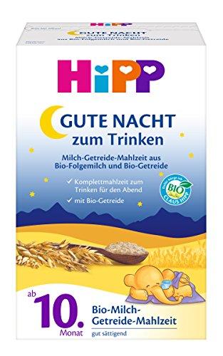 Hipp Goodnight harina de cereales leche orgánica de 10 mes, 4-pack (4