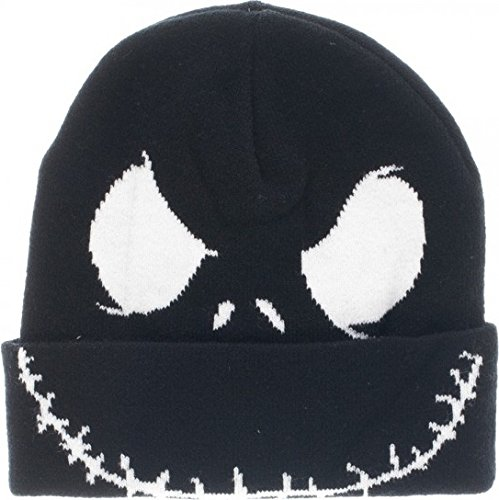 Nightmare Before Christmas Hat (Nightmare Before Christmas Jack Face Cuff Beanie Winter Hat)