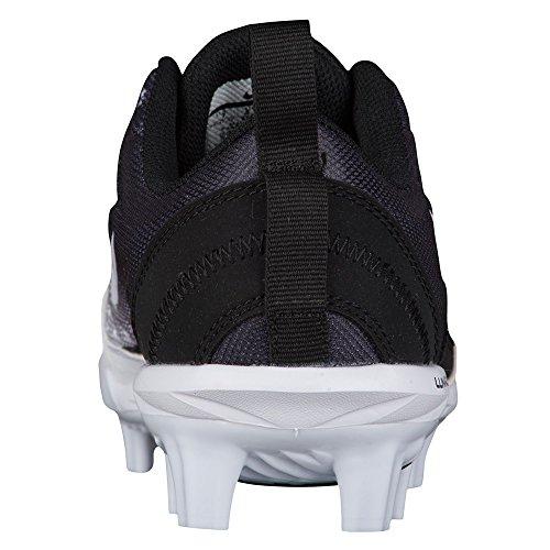 NIKE Women's Hyperdiamond 2 Pro MCS Softball Cleat Black/White/Wolf Grey