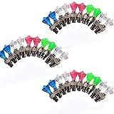 CUGBO 30 Pack Led Flash Tyre Wheel Valve Stem Caps Light Bike Car Motorcycle, Wheel Spoke Tire Light, Diamond Shape(Red, Blue, Green, White)