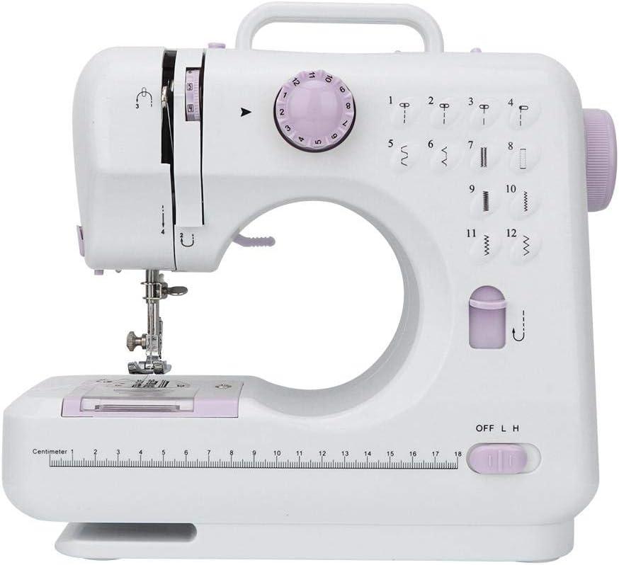 Máquinas de coser eléctrica, sastre portátil de mano Máquina de coser mecánica con 12 puntadas florales Pedal Línea inferior Hilo superior Enhebrador Prensatelas Pasador Pie de alimentación (#3): Amazon.es: Hogar