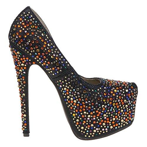 28003 Zapatos de mujer Schwarz 28073