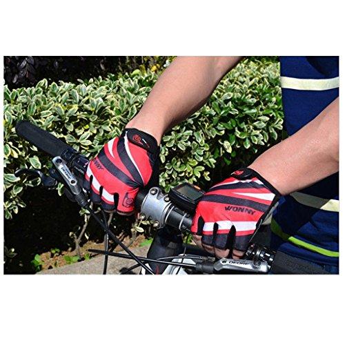 Guanti estivo Fingers Bicicletta Tofern Permeabile Half Gel Mountain Guanto Guanto Outdoor Rosso Bike Filling f4fwPTFrq