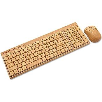 Sengu SG-KG201-N+MG94-N 2.4GHz Full Bamboo Handmade Wireless keyboard and Mouse Combo(2 key pads)