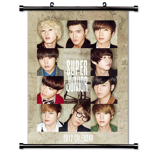 Super Junior Kpop Wall Scroll Poster