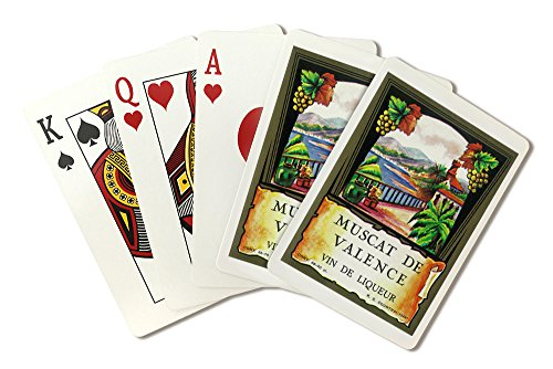 Muscat De Valence Wine Label (Playing Card Deck - 52 Card Poker Size with Jokers)