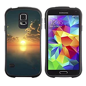 TopCaseStore Hybrid Rubber Case Hard Cover Protection Skin for SAMSUNG GALAXY S5 - Sunset Beautiful Nature 69