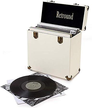 Lwieui Caja de Almacenamiento de CD Discos de Vinilo de Almacenamiento de CD Box Casos for Radio Plataforma de Almacenamiento y organización La mayoría de los Espacios Estanterías para CDs: Amazon.es: Hogar