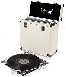 EVFIT Estuche de Almacenamiento LP para Discos de Vinilo Discos De Vinilo Única De Almacenamiento De CD Box Casos For Radio Plataforma De Almacenamiento Y Organización: Amazon.es: Hogar