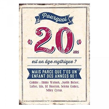 Grande Carte Anniversaire 20 Ans Bieber Cadeau Maestro
