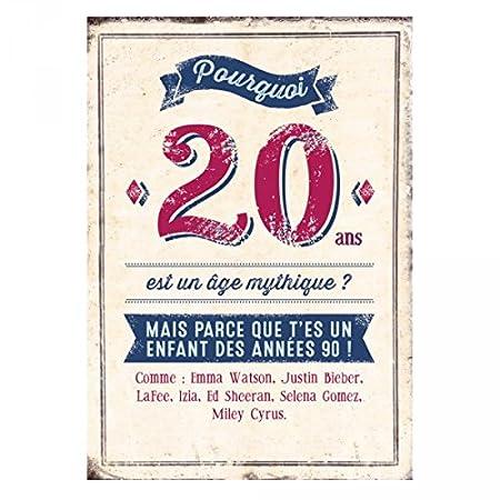 Gran tarjeta aniversario 20 años Bieber - regalo Maestro ...