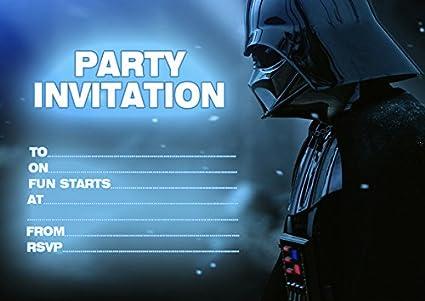 10 x Star Wars niños fiesta de cumpleaños invitaciones ...