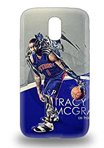 Tpu Galaxy Shockproof Scratcheproof NBA Detroit Pistons Tracy McGrady #1 Hard 3D PC Case Cover For Galaxy S4 ( Custom Picture iPhone 6, iPhone 6 PLUS, iPhone 5, iPhone 5S, iPhone 5C, iPhone 4, iPhone 4S,Galaxy S6,Galaxy S5,Galaxy S4,Galaxy S3,Note 3,iPad Mini-Mini 2,iPad Air )