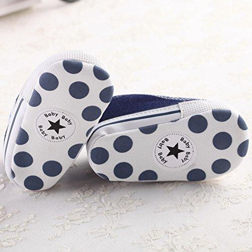 Zapatillas de Deporte Lindas Suaves Antideslizantes del Zapato (S: 0~6 meses, Rojo) azul