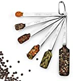 Measuring Spoons – Mini Metal from Small to Large Stainless Steel Heavy Measuring Spoons Set of 6 – Graduated Precision Measuring Spoons Stainless Steel – Rectangular Measuring Spoon Set