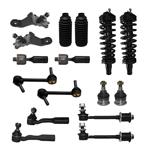 Strut Front Boot (New Complete 16-Piece Front Suspension Kit- Both (2) Struts Assembly, All (4) Front Ball Joints, All (4) Sway Bar Links, All (4) Tie Rod, 2 Tie Rod Boots for 96-02 Toyota 4Runner 4WD V6 Only)
