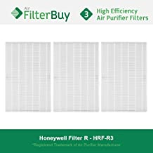 3 - Honeywell R Filters, HRF-R3 HEPA Filters. Designed by FilterBuy to fit Honeywell HPA-090 Series, HPA-100 Series, HPA200 Series & HPA300 Series Air Cleaning Systems.