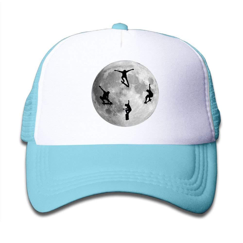 Reeher SDRG5 Moon Sport Skateboard Lover Child Baby Kid Adjustable Trucker Hat Summer Baseball Cap