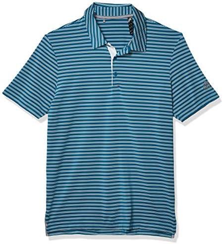 メンズ用ゴルフポロシャツ 高級2色ストライプ(2019年モデル)