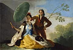Reproductions Decorative Painting Not Stretched and Not Framed ,Goya y Lucientes Francisco de The Parasol 1777 , is the best gift for your relatives, or girl friend and boy friend. That is also for Bar, Basement, Bathroom, Bedroom, Dining Roo...
