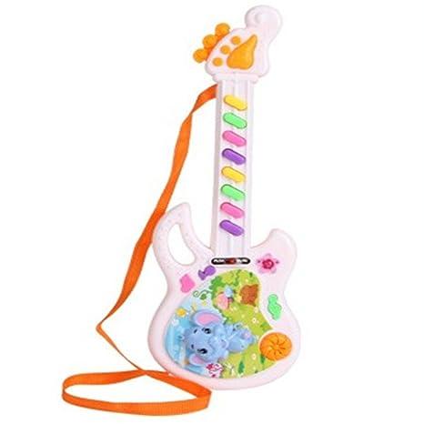 bravolotus Los niños del juguete de la guitarra Música Instrumental Mini teclado regalo de Navidad para la Educación de los niños de la guitarra eléctrica: ...