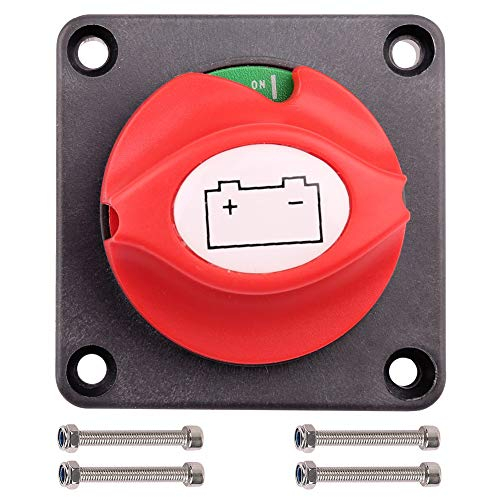 Off Cut Battery Switch - Battery Switch, 6V 12V 24V 48V 60V Battery Disconnect Master Cut Shut Off Switch for Marine Boat RV ATV UTV Vehicles, Waterproof Heavy Duty Battery Isolator Switch, 275/1250 Amps