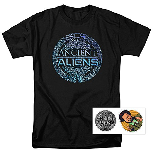 Ancient Aliens Logo T Shirt & Exclusive Stickers (XX-Large) (Channel Logo T-shirt)