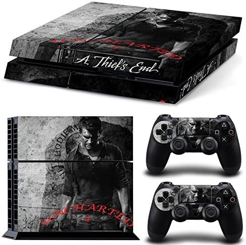 Ps4 Playstation 4 Console Skin Decal Sticker Uncharted 4 + 2 Controller Skins Set by ZoomHit: Amazon.es: Videojuegos