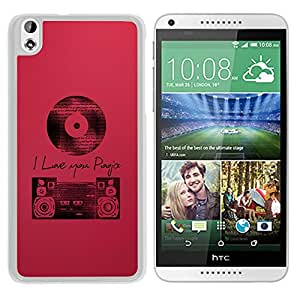 Old Music (2) Durable High Quality HTC Desire 816 Phone Case