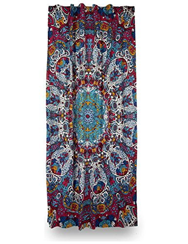 Sunshine Joy 3D Glow In The Dark Psychedelic Sunburst Curtain Single Panel 56×85 Inches – Amazing 3D Effects Review