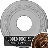 Ekena Millwork CM12JARZS 12 1/4''OD x 4''ID x 1 1/8''P Jackson Ceiling Medallion (Fits Canopies up to 7 3/8'') Rubbed Bronze