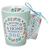 Cook Shop 207020010''A house is not a home without a dog'' Mugs, Pistachio Green