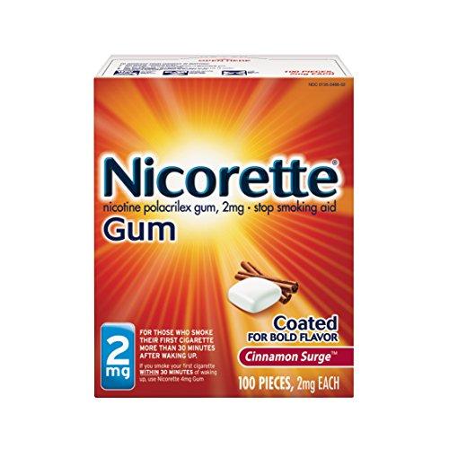 Miligramo de nicotina de Nicorette chicles canela oleada 2 cuenta dejar de fumar ayuda 100