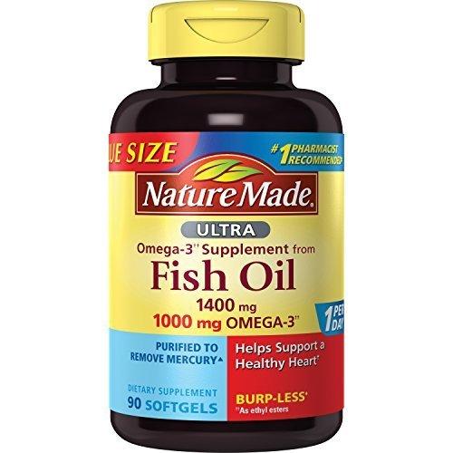Nature Made Ultra Omega-3 Burpless Fish Oil 1400 mg Softgels