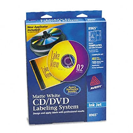 Avery: CD/DVD kit de diseño de con inserciones de 40 ...