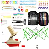 Yarn Ball Winder and Umbrella Swift Yarn Winder Including 100Pcs Crochet Hooks Set by LAMPTOP - Hand Operated Yarn Ball Winder and Umbrella Yarn Swift- 100pcs Knitting Accessories Kit Included: more info