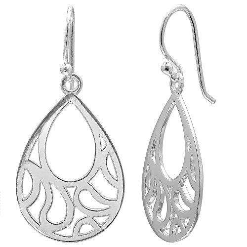 Polished Pear Shaped Teardrop Earrings ()