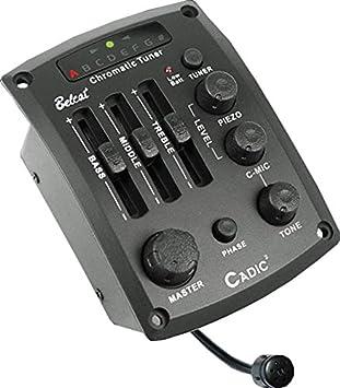 Belcat Cadic-2 preamplificador para guitarra Negro: Amazon.es: Instrumentos musicales