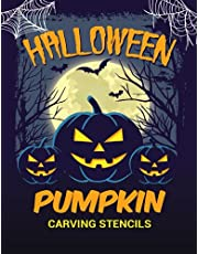 Pumpkin Carving Stencils: Large Halloween Pumpkin Carving Patterns & Templates for Adults and Kids | 40 Scary & Spooky Face Designs to Cut | Unique Horror Gift for Family