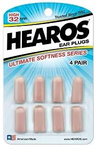Hearos Ultimate Softness Series Ear Plugs, 4 pair (pack of 6 )