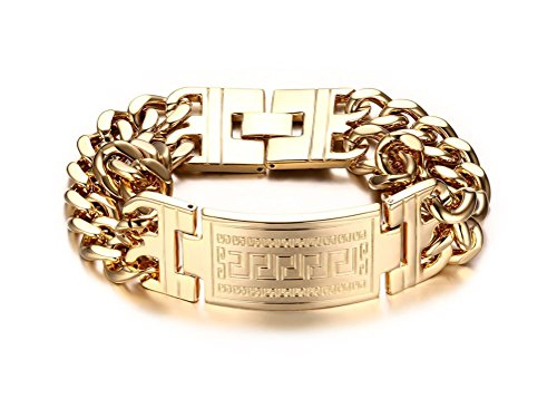Jewelry Textured Stainless Bracelet Plated