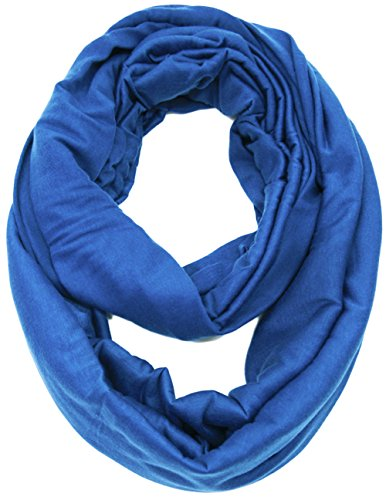 KMystic Large Solid Color Infinity Loop Jersey Scarf (Royal Blue)