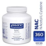 Pure Encapsulations - NAC (N-Acetyl-L-Cysteine) 600 mg - Amino Acids to Support Antioxidant Defense and Healthy Lung Tissue - 360 Capsules