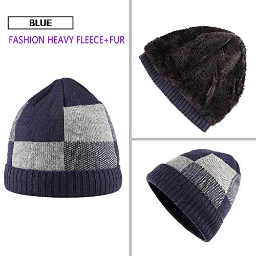 ANT EXPEDITION Winter Kint Hat Wool Watch Cap Fur Skull Beanie Cold Weather Warm  Hats for f665cdb7d462