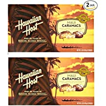 Hawaiian Host Maui Caramacs Creamy Caramel and Macadamias Covered in Milk Chocolate 6 oz Boxes (2 Boxes)