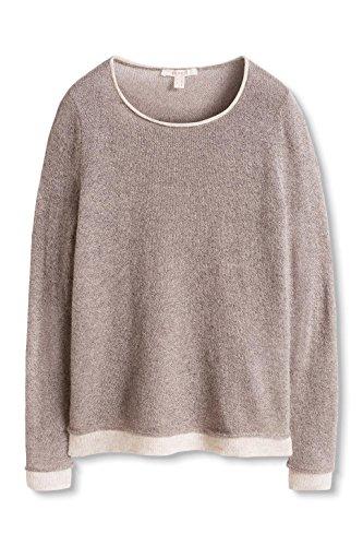 ESPRIT, Suéter para Mujer Multicolor (Taupe 5 244)