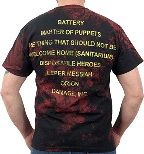 Men's Metallica Master of Puppets Death Metal Shirt Black (XXL)