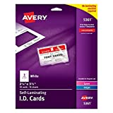 ID Card Printer - Avery 5361 Laminated I.D. Cards, Box of 30