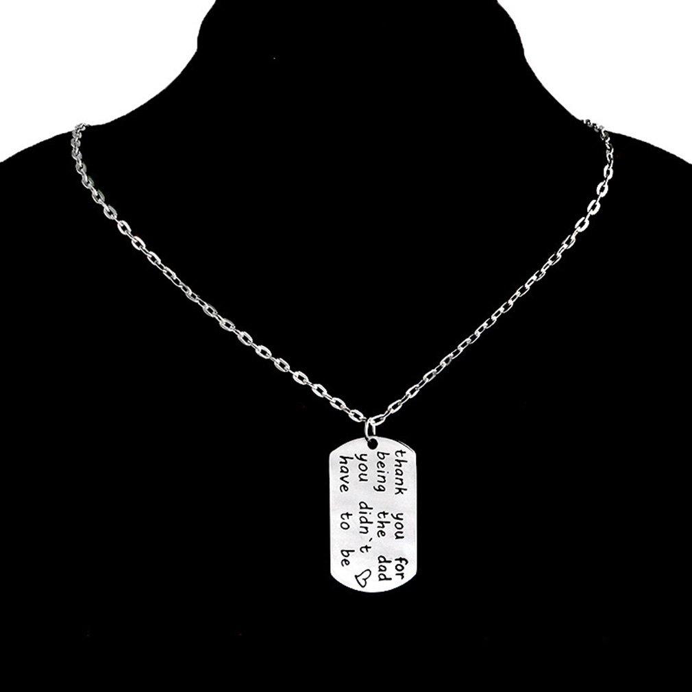 CanVivi Halskette Silber Halsband Halsketten mit Herz Anhänger Für Vatter