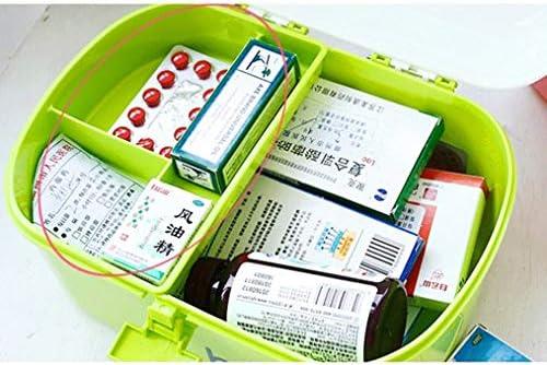 救急箱 薬箱 薬ケース お薬 箱 医学箱 応急手当品 収納ケース 応急ボックス 収納ボックス 薬収納 3段式 取っ手付き 持ち運びしやすい おしゃれ 大容量出張 旅行 アウントドア 28x21x17cm ピンク